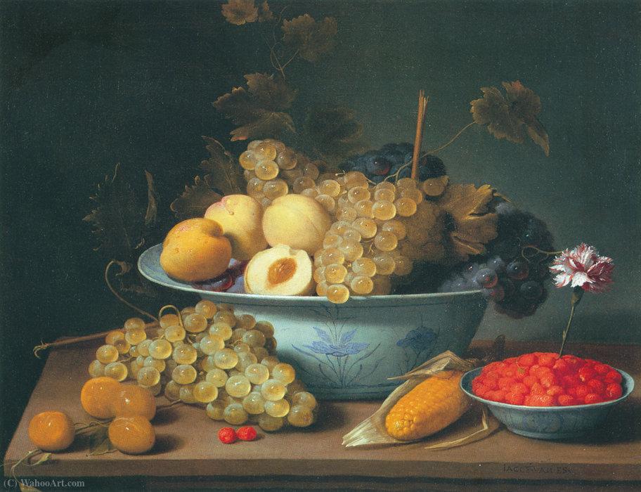 Jacob_Van_Es-Nature_morte_aux_fruits_dans_des_porcelaines