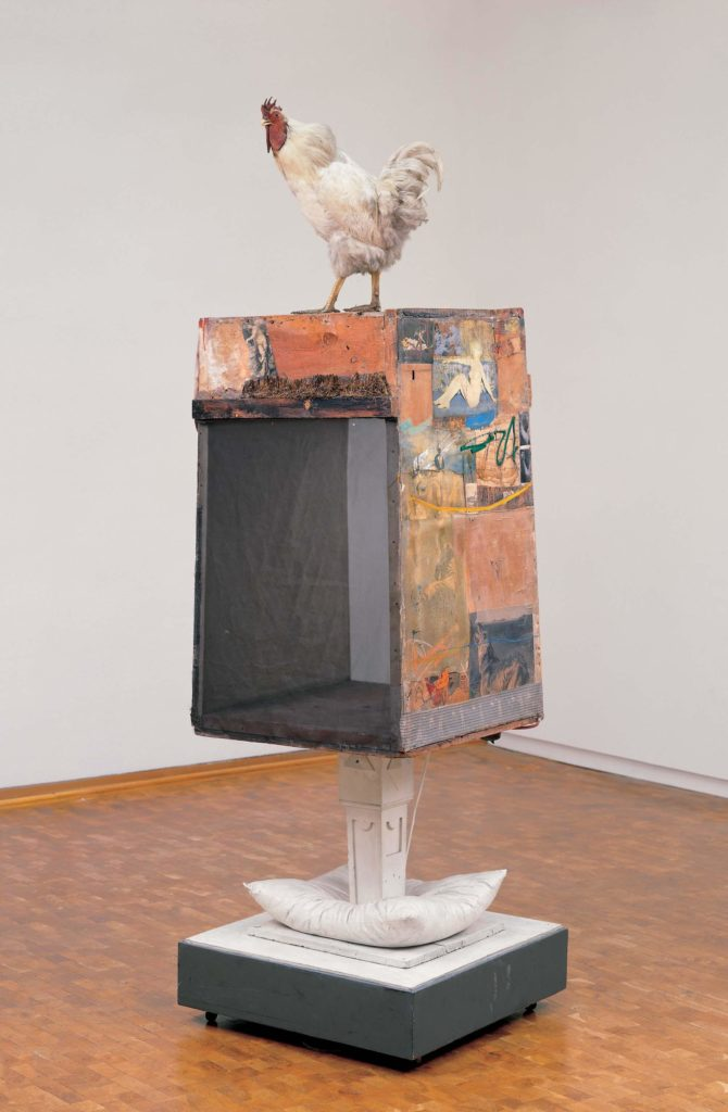Robert Rauschenberg, Odalisk, 1955/58. This abstract piece of Dada art would come to influence the spread of pop art in Britain and American during the 1950s.