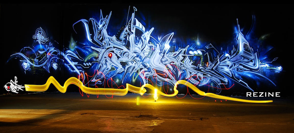 Transfigur lightgraffiti 2009 REZINE