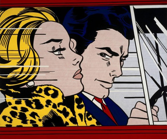 Pop Art by Roy Lichtenstein, In The Car, 1963.