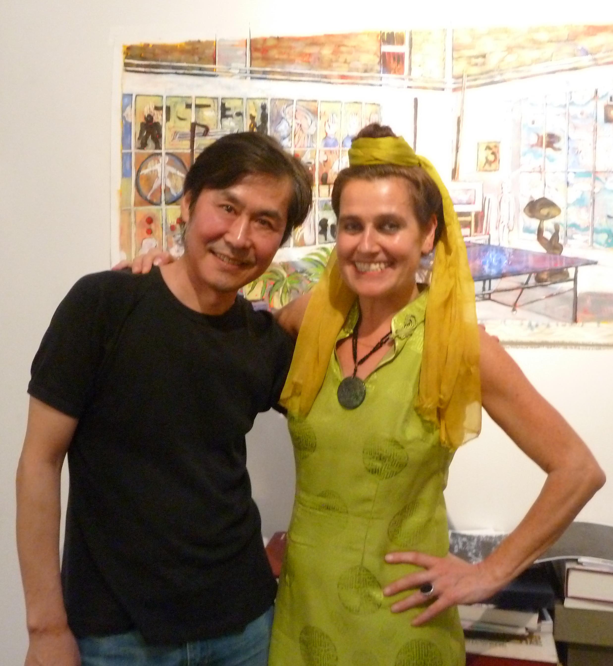 Barbara Piatti avec artist chinois Xifa Yang