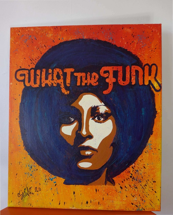 What The Funk Street Art Painting By Slave 2.0 (1)