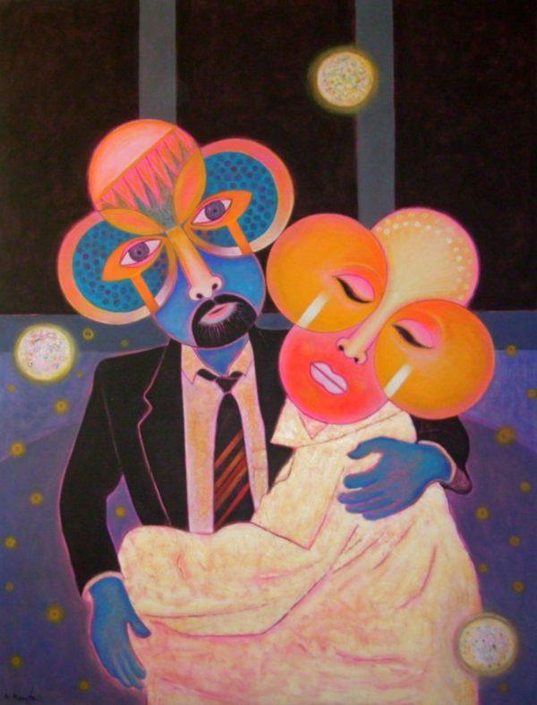 Couple 2003 200x150 acrylic-canvas