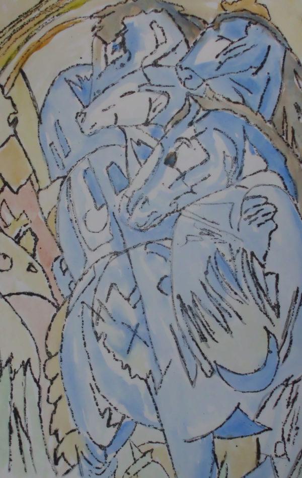 Turm blau