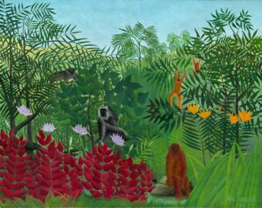 Unframed-Canvas-Prints-Tropical-Forest-With-Apes-And-Snake-By-Henri-font-b-Rousseau-b-font