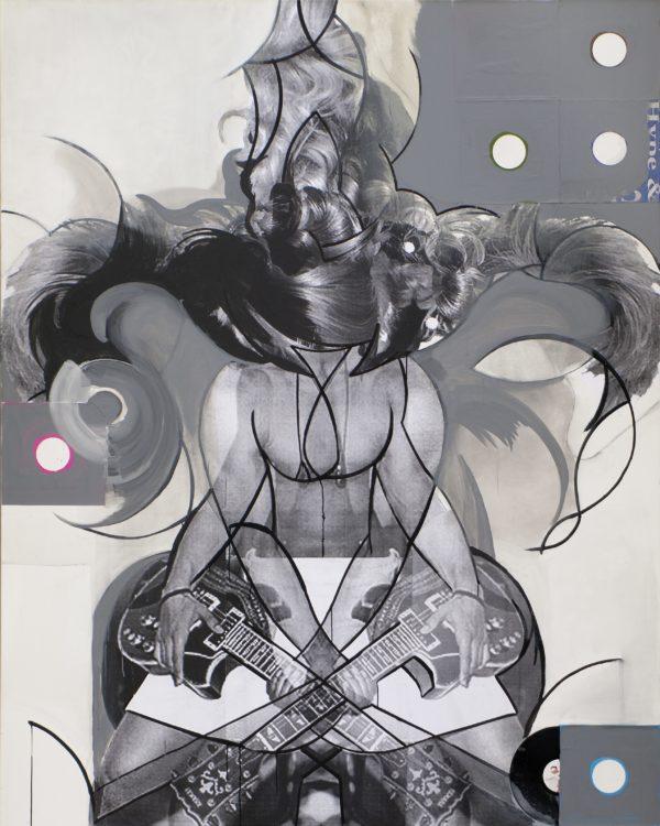 DUO, 2013, Mischtechnik auf Leinwand, 250 x 200 cm