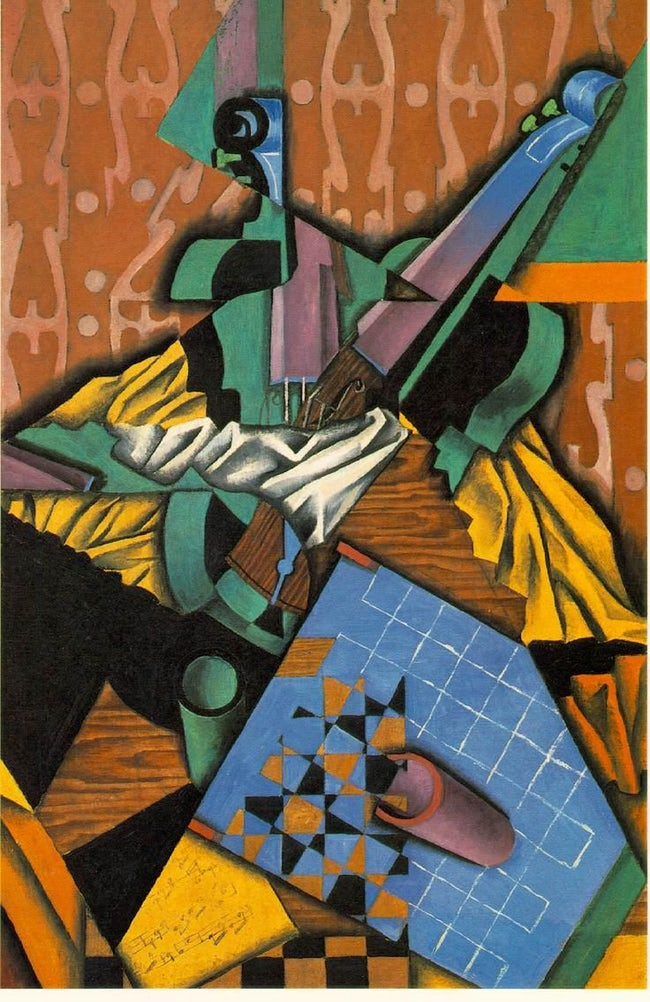 Cubism movement classics: Juan Gris, Violin and Checkerboard, 1913
