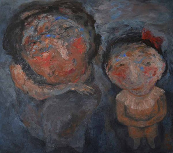 Maria Sonia Martin Rositas Infancy 2013 Oil on canvas 42 X 48 inches 106.68 x 121.92 cm