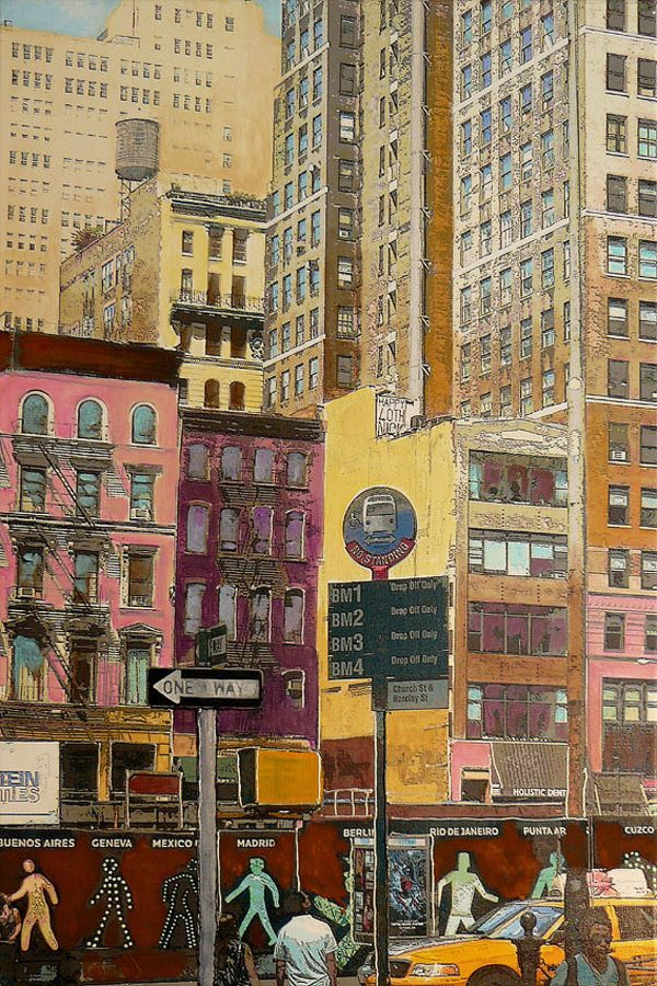 Marion Zimmermann-NYC-Streets 4-Acrylic and print on canvas-50x75cm.jpg