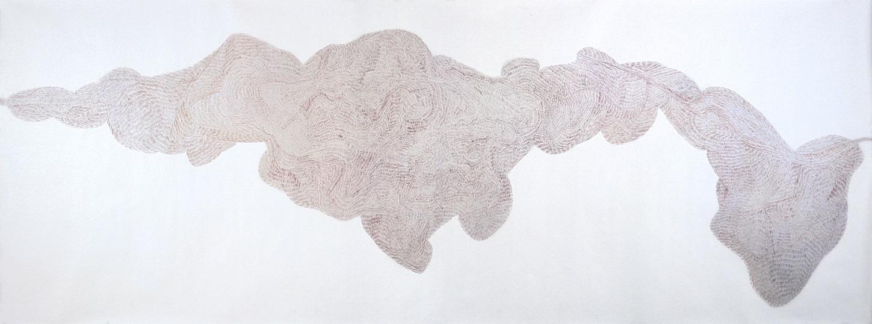 ZuzannaSkiba-In der Regel trifft man sich zweimal Nr. 1 _ Buntstift auf Papier _ 158 x 420 cm _ 2006