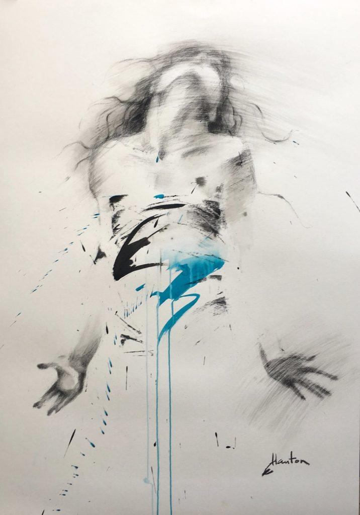 Danse, bleu léger