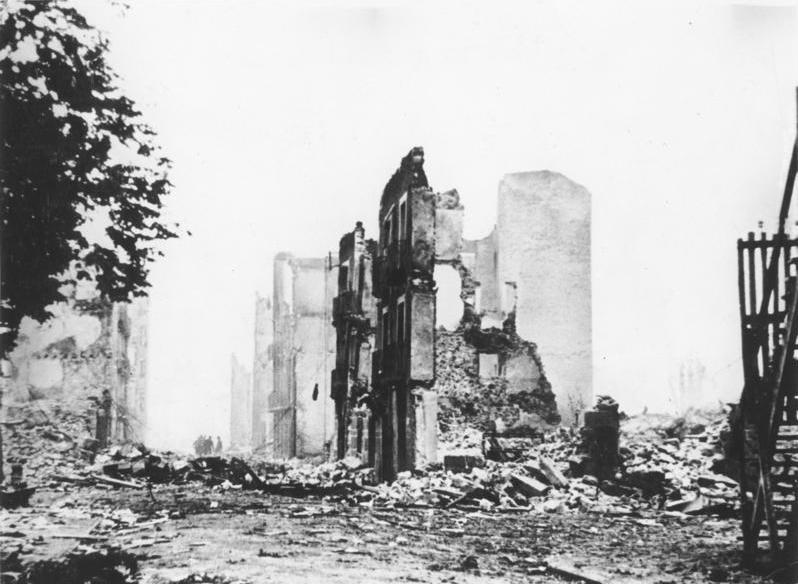 Das 1937 von der deutschen Legion Condor zerstörte Gernika (kastilisch Guernica)