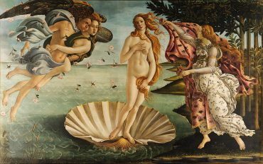 Von Sandro Botticelli - Adjusted levels from File:Sandro Botticelli - La nascita di Venere - Google Art Project.jpg, originally from Google Art Project. Compression Photoshop level 9., Gemeinfrei, https://commons.wikimedia.org/w/index.php?curid=22507491
