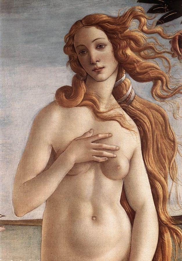 Venus. Ausschnitt aus: Sandro Botticelli, Die Geburt der Venus.