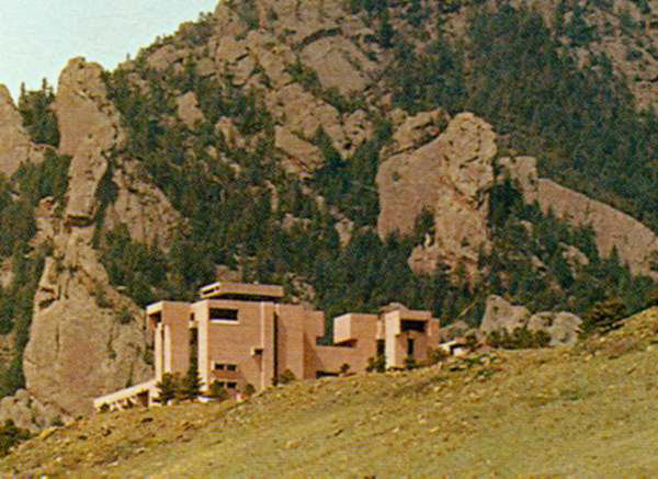 The National Center for Atmospheric Research in Boulder, Colorado was completed in 1967.