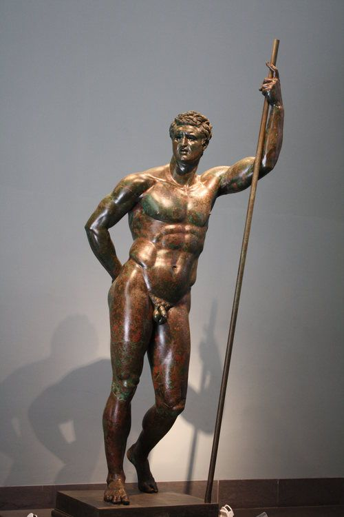 A 2nd century BCE bronze statue known as 'The Hellenistic Prince' examples Smith's contrapposto figure.