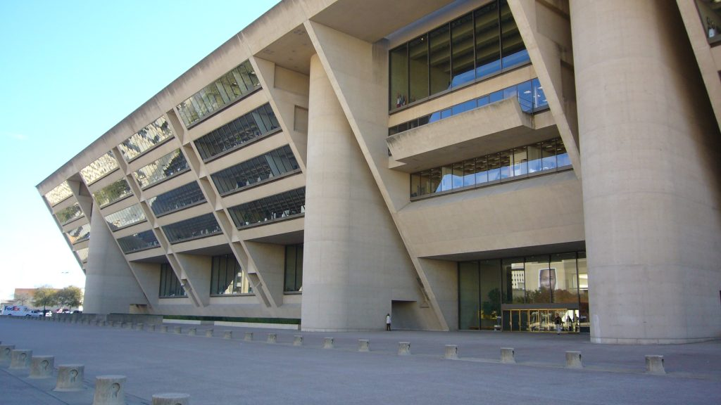 Dallas City Hall was completed in 1978.