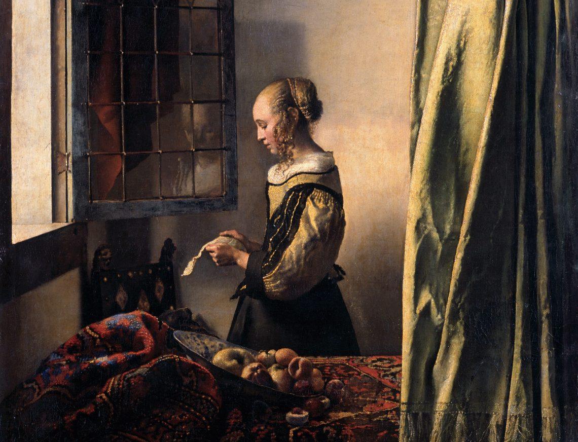 Jan Vermeer, Brieflesendes Mädchen am offenen Fenster, 1657/59