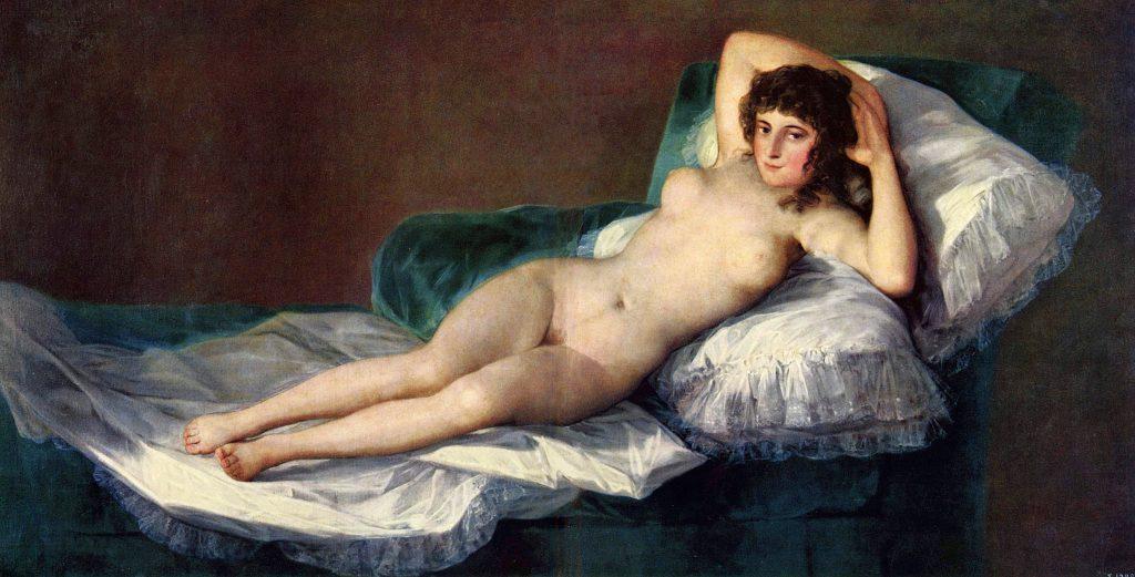 Die nackte Maja von Francisco Goya, 1795–1800, Museo del Prado, Madrid.