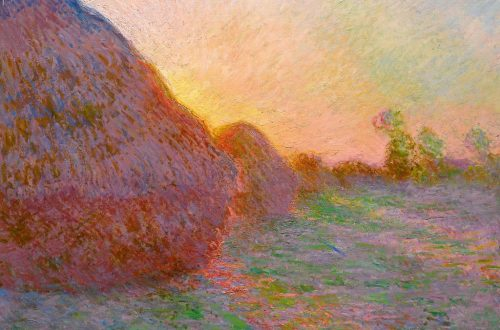 """The painting from Claude Monet's """"Meules"""" (""""Grainstacks"""") series sold for over 110 million on Tuesday. Image via Sotheby's."""