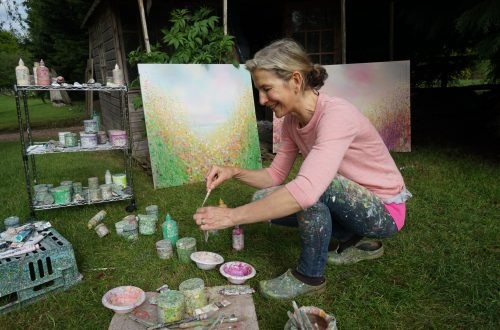 Sandy Dooley in her UK studio