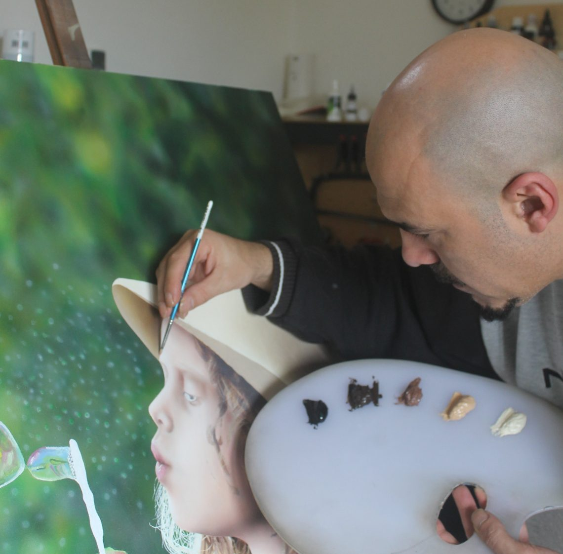 Ivan Pili in his studio