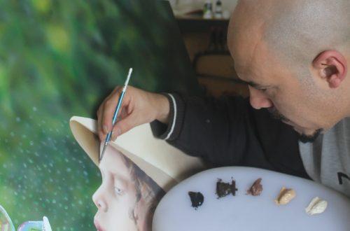 Ivan Pili in his studio