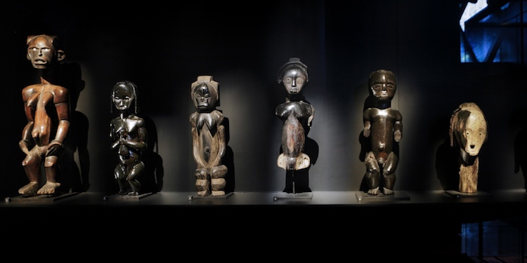 Statues from Benin and Nigeria at the Musée du Quai Branly, Paris