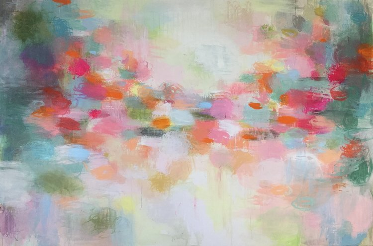 Sandy Dooley, 'River Of Light,' 2019. Acrylic on Canvas, 120x180cm.