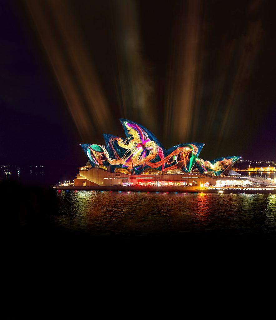 Vivid Light 2019 - Austral Flora Ballet - Artist Impression by Andrew Thomas Huang & Bemo