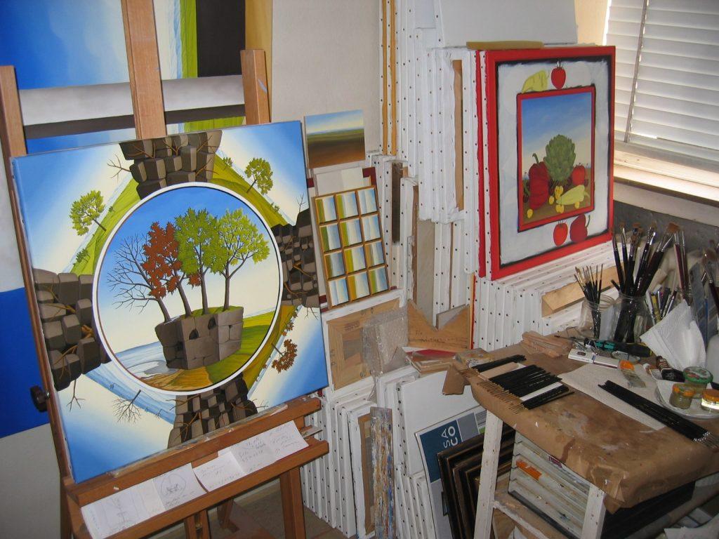 Einblick ins Atelier des Künstlers Siegbert Hahn.