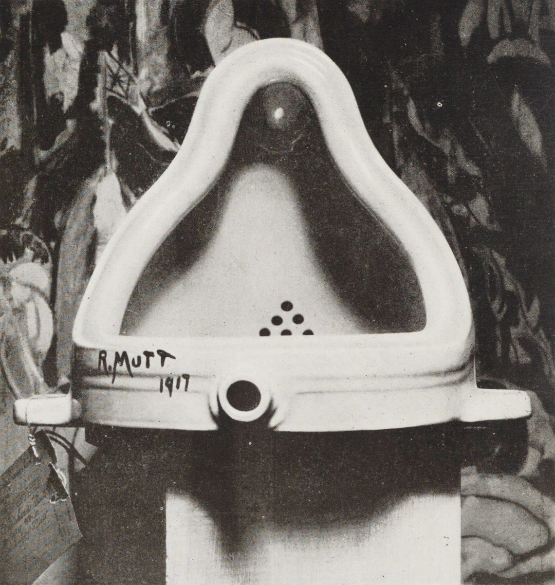 Duchamps Fountain, Fotografie von Alfred Stieglitz