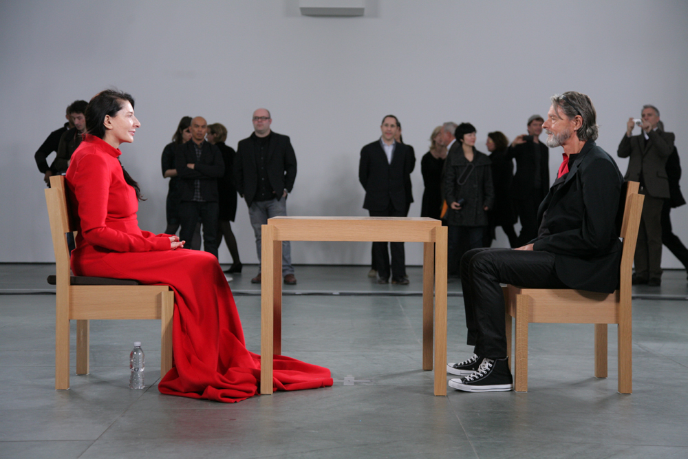 "Marina Abramović und Ulay in ""The Artist is Present"" (2010)"