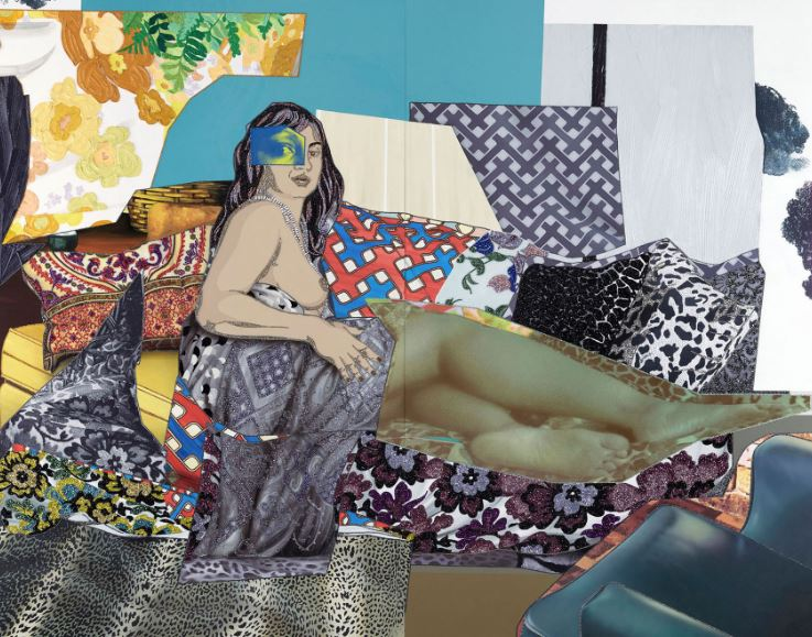 Mickalene Thomas, 'SHINIQUE: NOW I KNOW,' 2015. via mickalenethomas.com