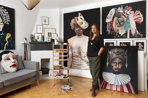 Tanja Hirschfeld in ihrem Atelier