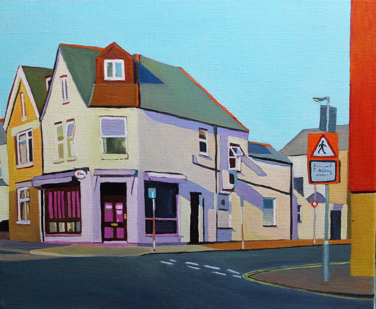 Emma Cownie, 'Salisbury Road, Cardiff,' 2017. Oil on Linen, 38x46cm.