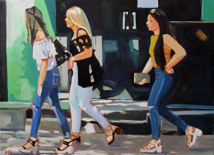 Emma Cownie, 'Dressed Up For Each Other,' 2018. Oil on Linen, 30x40cm.