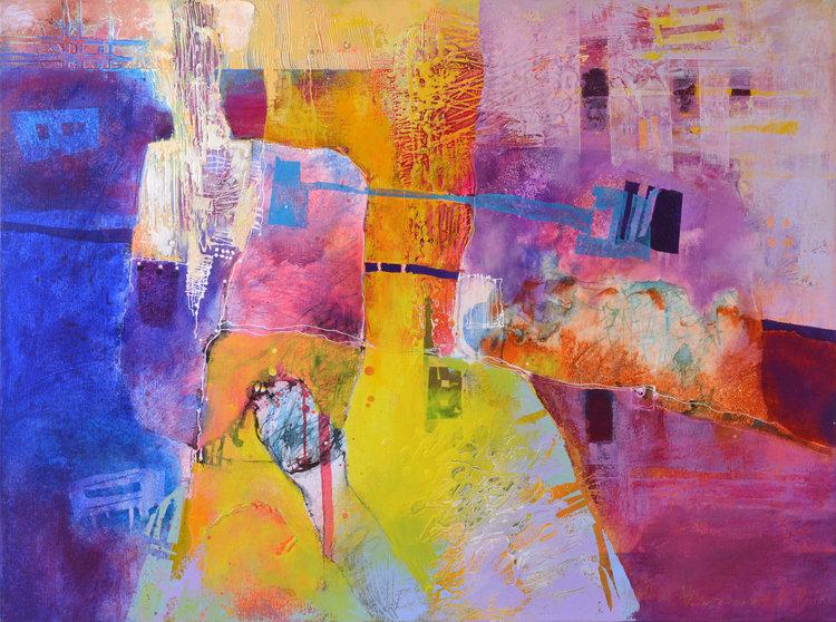 Vania Bouwmeester Pentcheva, 'Petra,' 2016. Acrylic, Oil, Colored pencil, Cement on Linen, 90x120cm.