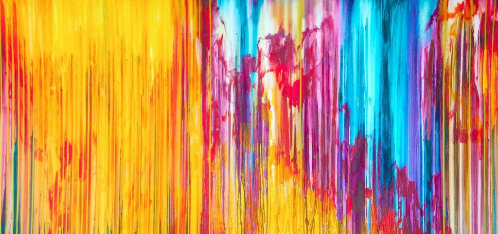 Carla Sá Fernandes, 'The Emotional Creation #255,' Acrylic on Canvas, 80x170cm.