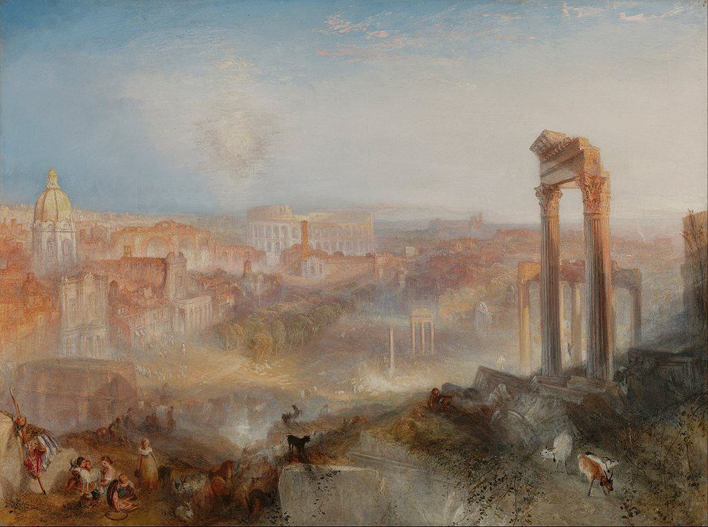 A British landscape, J. M. W. Turner Modern Rome – Campo Vaccino, 1839.