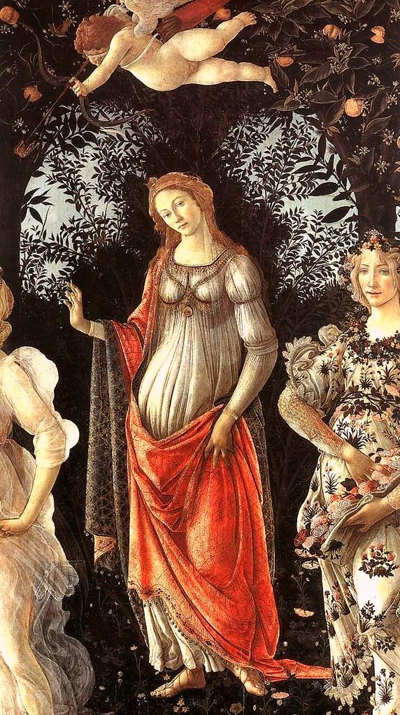 Detailansicht (Bildmitte): Venus und, über ihr, Eros. Quelle: Flickr.
