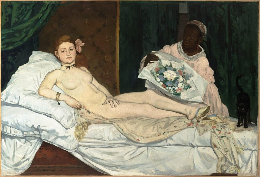 Olympia, an oil painting by Edouard Manet.