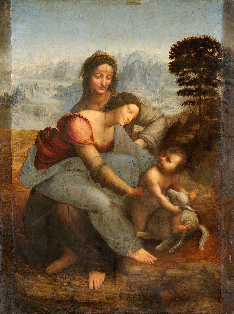 Leonardo Da Vinci, The Virgin and Child with Saint Anne, circa 1503