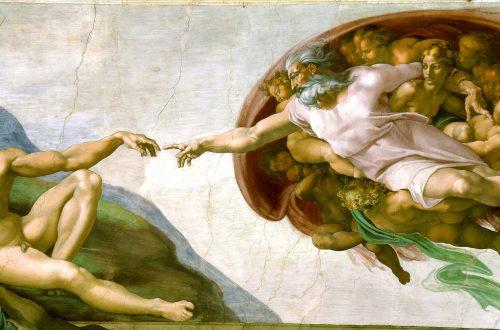 Die Erschaffung Adams von Michelangelo