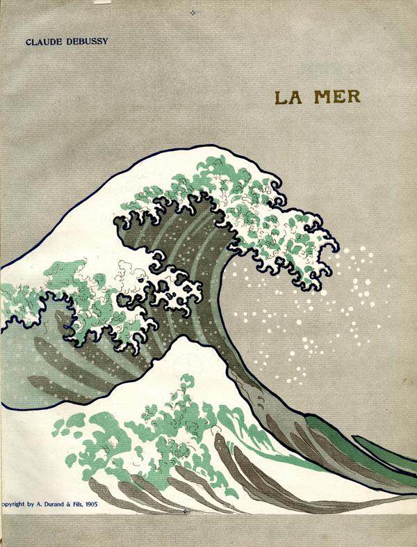 """Cover von Claude Debussys Orchesterwerk """"La Mer""""."""