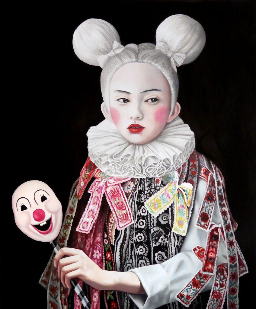 Tanja Hirschfeld. Mickey Girl (2018), Öl auf Leinwand, 120x100cm.