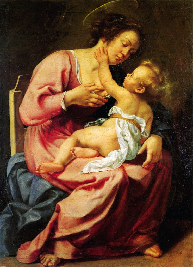 Madonna and Child, 1613, precursor to Susanna and the Elders