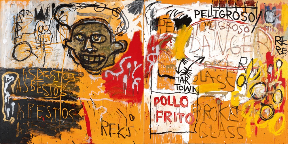 Graffiti inspired work by Jean‐Michel Basquiat, Untitled (Pollo Frito) (1982). Courtesy of Sotheby's.