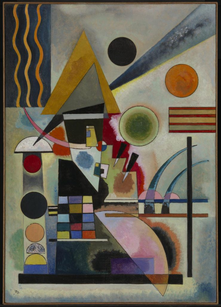 Wassily Kandinsky, famous abstract art, Swinging, 1925, Image via the Tate.
