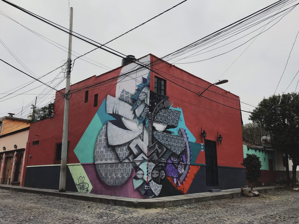 The one year duality, San Miguel de Allende, Mexico, 2019. Photo: WiseTwo mural street art